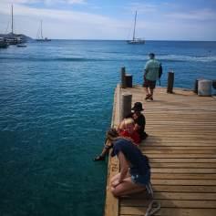 Brygga på andre siden av øya