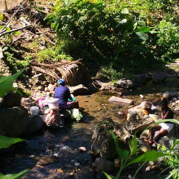 Klesvask i elven