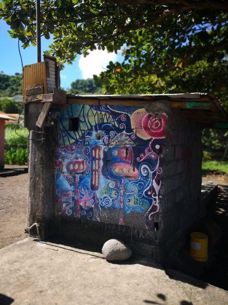Murmaleri ved havnekontoret