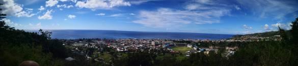 Panorama over Roseau